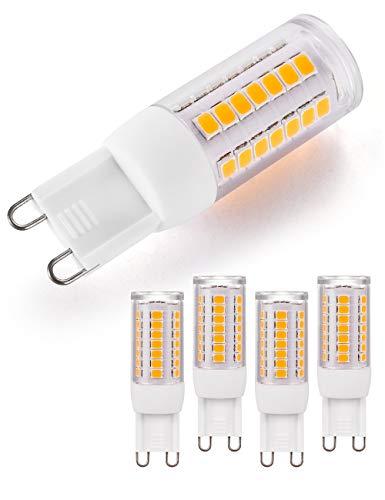 G9 LED Lampe 3000K Warmweiß Dimmbar G9 LED Leuchtmittel 230V 3W 360 Lumen Ersatz für 30W Halogenlampen Kein Flimmern led birne g9, für Bett Badezimmerschrank Wohn Esszimmer (5er Pack)