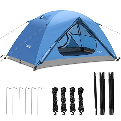 Ultra-light 1-2 person Throw Tent Outdoor//Camping Throw Tent with Carrying Bag Waterproof UV Protection Double-door Ventilated Tents BACKTURE Pop up Camping Tent