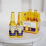 1 Satz 1/6 Maßstab Mini Bier Getränke Puppenstuben Miniatur Wiedergabe Lebensmittel für Barbies,...