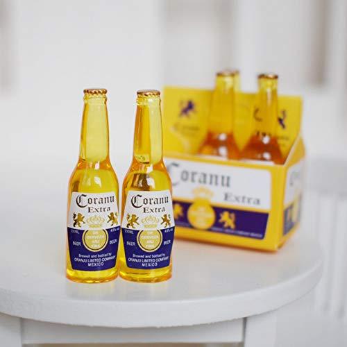 1 Satz 1/6 Maßstab Mini Bier Getränke Puppenstuben Miniatur Wiedergabe Lebensmittel für Barbies, BlythToy