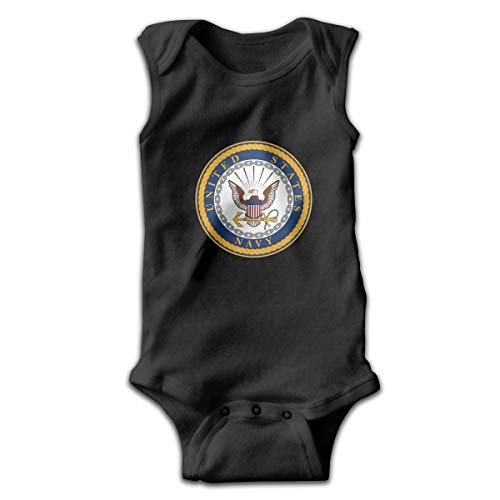 Klotr Seal of The United States Navy Newborn Infant Baby Sleeveless Bodysuits Rompers Outfits