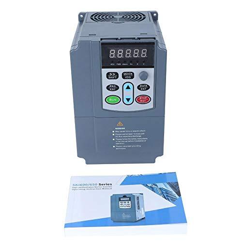 Tonysa 0.75KW 380VAC 2.7A VFD, universeller Frequenzumrichter mit PID-Regelung für Motoren, Mischer, Kugelmühlen, Pumpen, Kräne, Förderer, Luftkompressoren, CNC-Werkzeugmaschinen