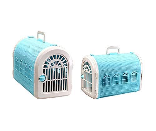 Aida Bz Pet boîte d'air Pet Panier Pet Valise Cage Pet Fournitures Chats et Les Chiens Hors de la boîte à air Portable,Blue