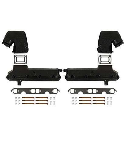 Barr Manifold Exhaust Kit for OMC V-8 GM Chevy 5.0-Liter and 5.7-Liter with End Style Risers