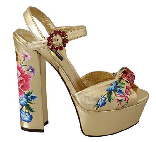 Dolce&Gabbana Keira Sandalias Mujer Oro 36 EU