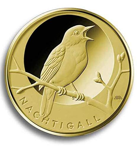 EGOCENT Goldmünze 2016 999 1/8 oz 3,89g Feingold Sammlermünze Heimische Vögel Nachtigall