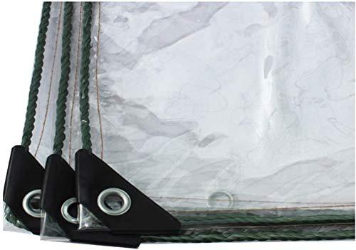 Dekzeil met oogjes Transparant regenjas/Motorzeil Extern zeil Beschermend zeil Cantilever beschermend dekzeil / Houten zeil voor zwembaden Dikte 0.5 mm 500 g / m2, 1m × 2m 1m×3m