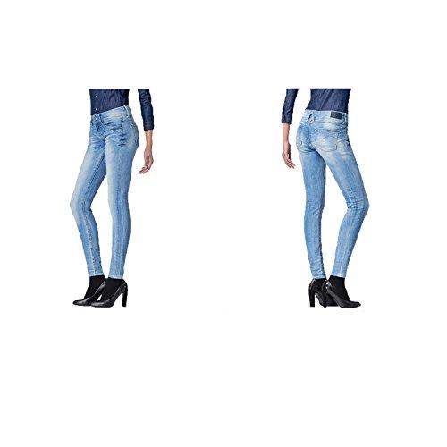G-STAR RAW Lynn Mid Waist Skinny Jeans, Blu (Lt Aged 6745-424), 28W / 30L Donna