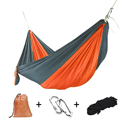 Goodlee Single & Double Portable Camping Hammock,Lightweight Nylon Parachute Hammock Tree Straps Travel,Camping,Backpacking more.
