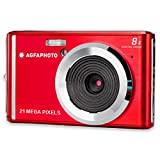 AGFA Photo Realishot DC5200 - Appareil Photo Numérique Compact (21 MP, Ecran LCD 2.4'', Zoom Digital 8X, Batterie Lithium) Rouge