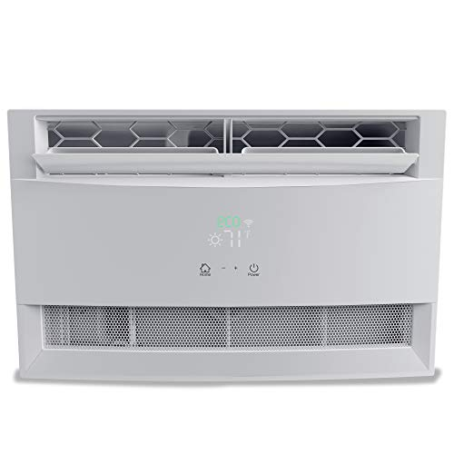 Freo 10,000 BTU Window Air Conditioner   Sleek, Modern Design   Energy Star   LED Display   Follow Me Remote   Automatic Louvers   Dehumidifier   AC for Rooms up to 450 Sq. Ft   FHCW101ABE