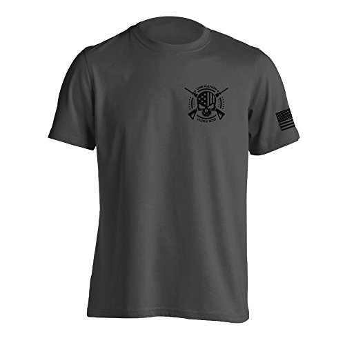 One Nation Under God Military T-Shirt Large Charcoal