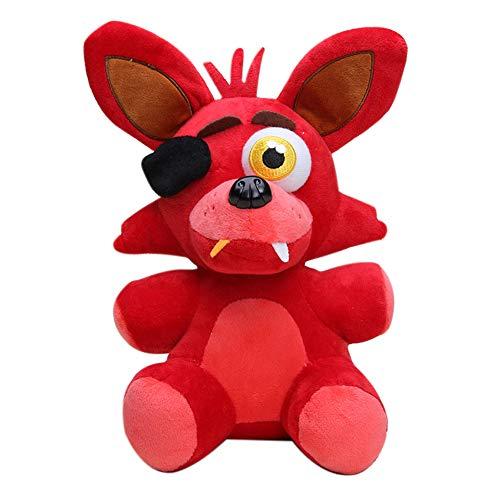 Xiongtai Gefüllte Spielzeugpuppen Freddy Plüschtiere, Foxy Plüschpuppe Kuscheltier Plüschpuppenspielzeug Freddybär Foxy Chica Bonnie Für Kinder Kinder Geschenke