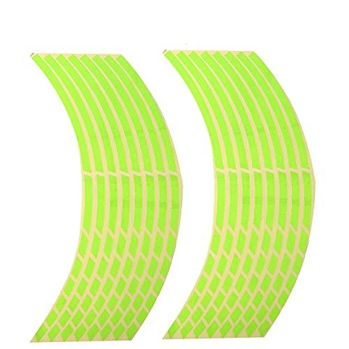 ZYYXB Pegatinas reflectantes para rueda de coche, motocicleta, reflexivo, cinta adhesiva, para decoración, película de motocicleta, llantas, tira protectora, estilo 4