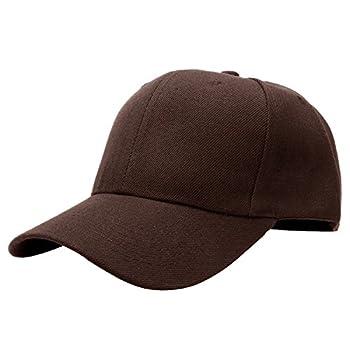 Falari Baseball Cap Adjustable Size Solid Color G001-18-Brown
