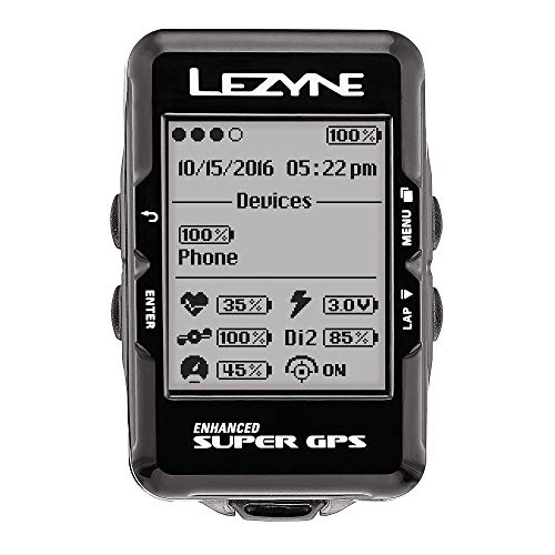 LEZYNE Enhanced Super GPS Cycling Computer Black