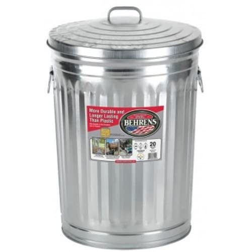 Garbage Can With Side Drop Handles 20 Gallon