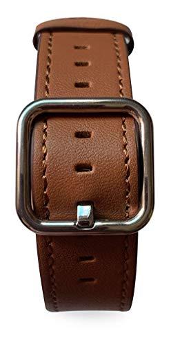 Pulseira Couro Fecho Clássico, compatível com Apple Watch (Nozes, 40mm)