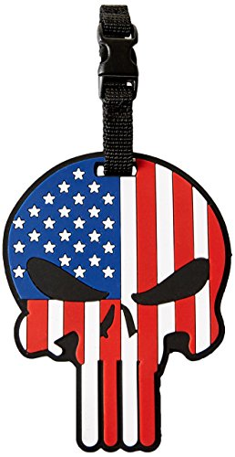 5ive Star Gear 6674 Patriotic Punisher Luggage Tag 3.25' x 4'