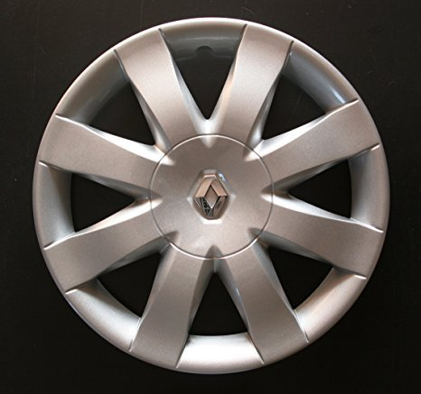 Set of 4 New Wheel Trims for Renault Clio 3 / Scenic 2 / Megane 2 / Megane 3 / Modus/Laguna 2 / Laguna 3 / Espace 4 / Vel Satis/Twingo 2 / Kangoo 2 with Original Rims in 15 Inches