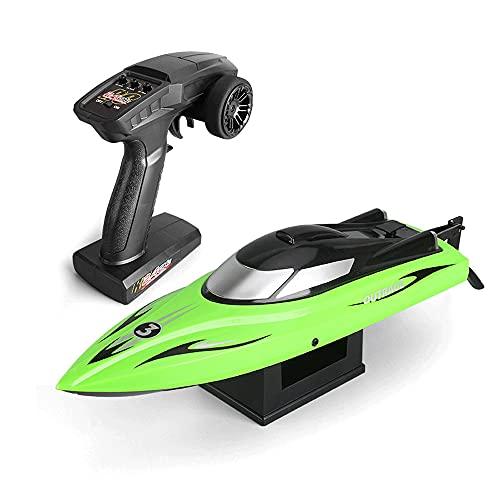 WANGCH Barco de Control Remoto de Alarma de batería Baja/Barco de Remo de Agua de Alta Velocidad de 2.4G Barco de remos Barco RC/Embarcaciones RC Modelo de Barco acuático de Verano / 30KM / H Rein