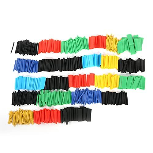 1060Pcs Colorido conjunto de tubos termocontraíbles Aislamiento Tubo retráctil Manga de poliolefina Surtido de envoltura de tubo de aislamiento Surtido de mangas de cable eléctrico