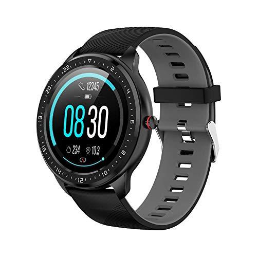 Tipmant Smartwatch, Relojes Inteligentes Mujer Hombre con Pulsómetro Cronómetros Calorías Monitor de Sueño Podómetro, Pulsera Actividad Inteligente Impermeable IP68 Reloj Deportivo para Android iOS