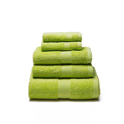 Sancarlos - Juego de 5 toallas YANAI, 100% Algodón, Color
