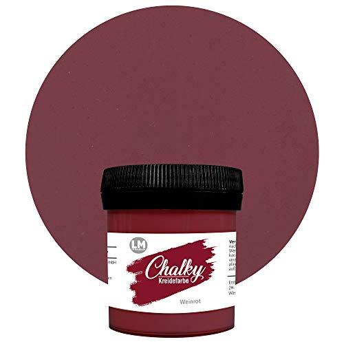 Chalky Kreidefarbe 80ml (Weinrot) - - Finish Kreide-Farbe, Pastell, Vintage-Look, Shabby-Chic-Look, Land-Haus-Stil, Chalky-Sets, ähnlich Viva Decor deckend