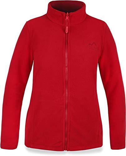 normani 280 g/m² Fleecejacke für Damen mit Einschubtaschen, ZIP-T3K Sytsem - funktional, leicht, bequem, elegant Outdoor Farbe Rot Größe S