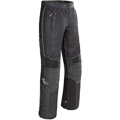 Joe Rocket 1524-2003 Cleo Elite Damen Motorradhose aus Textil (Schwarz, Größe M)