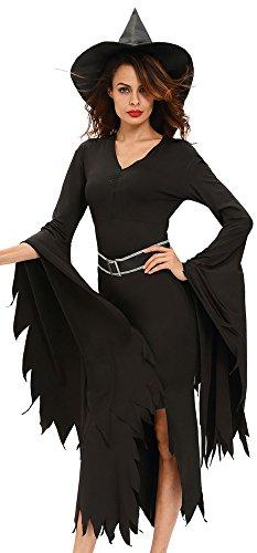 r-dessous Damen Kostüm Hexe Zauberin Horror Vampir Gothic Dark Lady Halloween Karneval Fasching Verkleidung Groesse: M