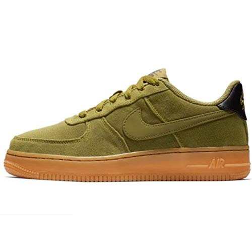 Nike Herren AIR Force 1 LV8 Style (GS) Fitnessschuhe, Mehrfarbig Grün Braun (Multicolor Camper Green Camper Green Gum Med Brown 300), 40 EU