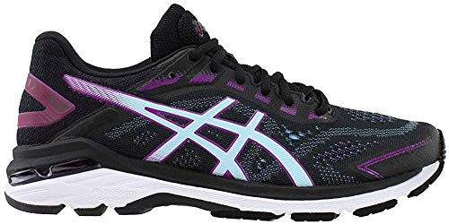 ASICS Women's GT-2000 7 Running Shoes, 9.5M, Black/Skylight