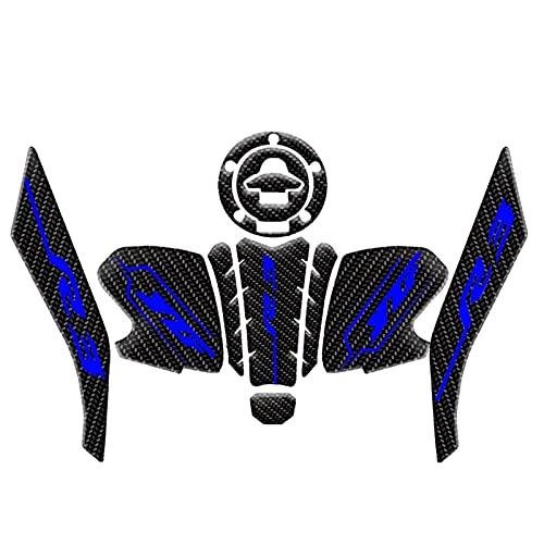 Protector De Agarre De Rodilla Antideslizante para Motocicleta para Yamaha YZF R3 YZFR3 2019 2020 (Color : 3)