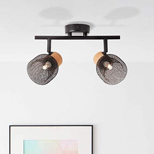 Lightbox Deckenstrahler 2-flammig, schwenkbar, 2x G9 Fassung, max. 6 Watt, Metall/Kork, schwarz matt