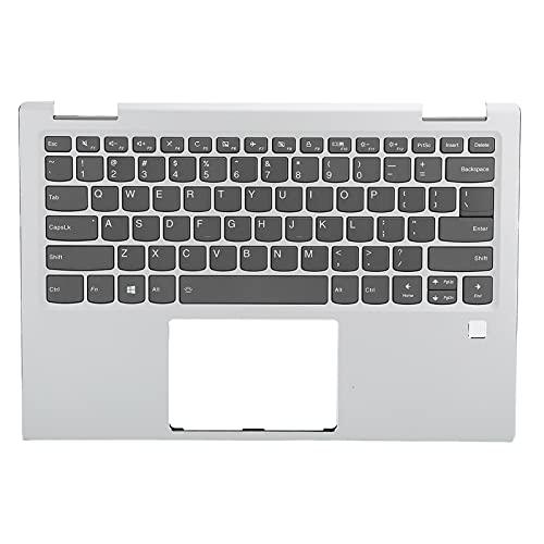 Reposamuñecas para computadora portátil, carcasa superior con pieza de ensamblaje de panel táctil de teclado de repuesto, aleación de aluminio, con luz de fondo, fácil de enchufar y desenchufar, simpl