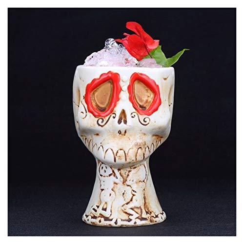 Copa De Cóctel Totem Taza de la bebida de la cerveza de la taza de la cerveza del cóctel de 480 ml Taza de cerámica de la taza de vino (Color : 1pcs)