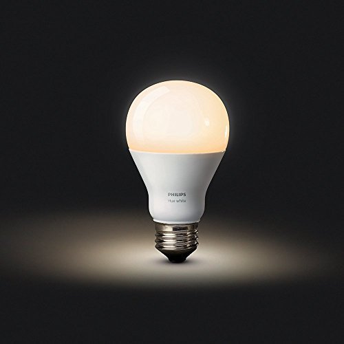Philips Hue White A19 Single LED Smart Bulb Works with Amazon Alexa (Hue Hub Required, Works with...