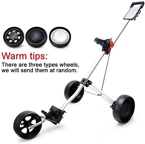 JWCN Golf Push Cart | Faltbarer Golfwagen | 3 Rad Golfwagen | Golfwagen Elektro | Elektrischer Golfwagen | Wheel Push Pull Golfwagen Uptodate