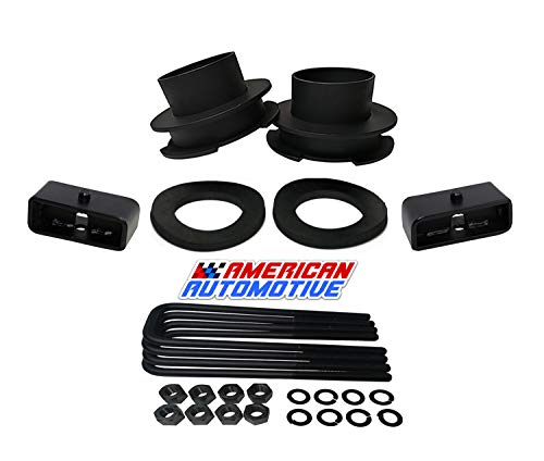 """American Automotive 2002-2008 Ram Lift Kit 2WD 3"""" Front Spring Spacers + 1.5"""" Rear Blocks Road Fury Series Leveling Lift Kit"""
