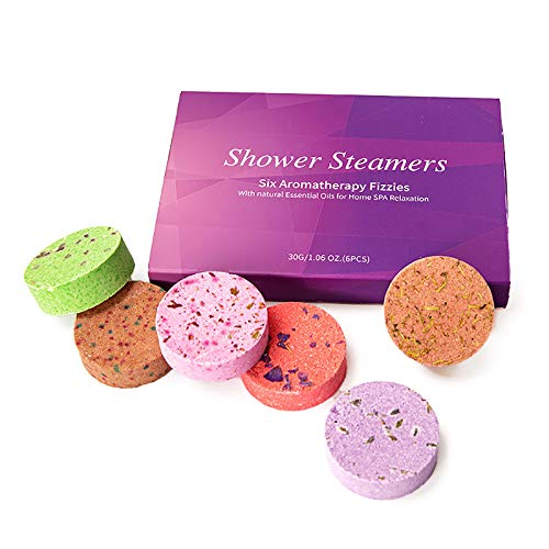 HNBSTST Shower Steamer Aromatherapy Tablets, Ladies Shower Bomb, Mezclado con Rosa, Lavanda, Vainilla, Pomelo Y Menta. Regalos De SPA En Casa Y Regalos para El Día De La Madre