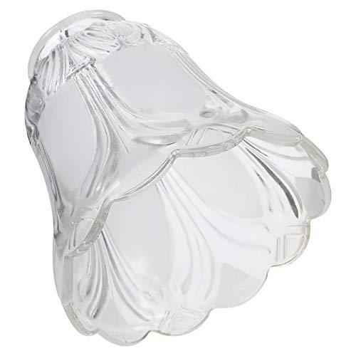 PIXNOR 2 Piezas Pantalla de Lámpara de Techo de Vidrio DIY Hogar Transparente Flor en Forma de Lámpara de Pared Cubierta de Pantalla Accesorios de Iluminación para Tienda de Hogar