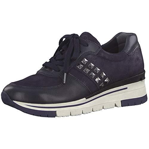 Tamaris Damen 1-1-23720-33 Sneaker, Blau (Navy/Navy MET. 873), 38 EU