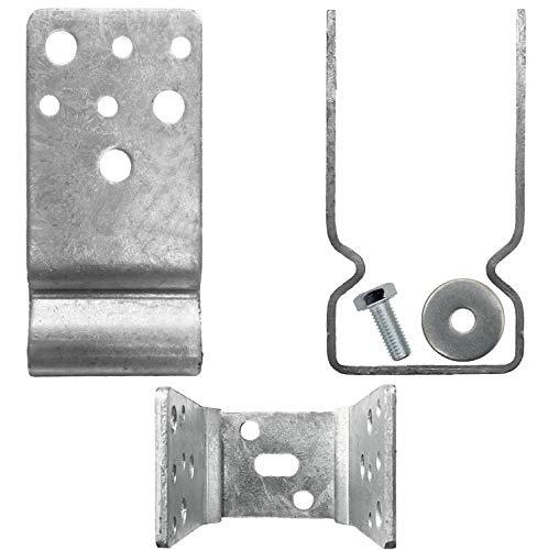 Maxerio Pfostenträger (U-Winkel) mit Langloch Basic Schraubfundament, Balkenbreite 7cm, 6er Set, verzinkt