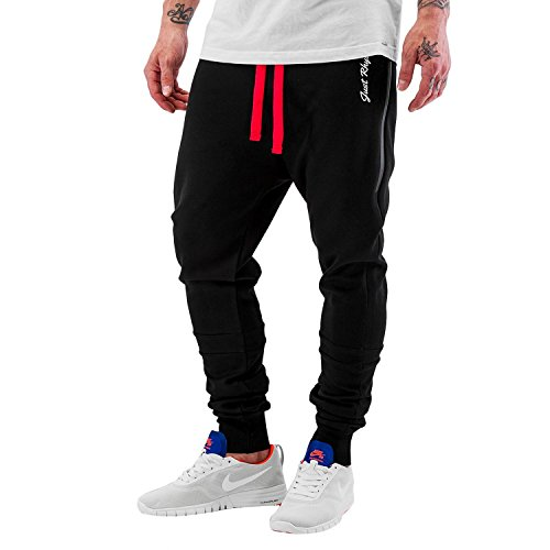 Just Rhyse heren joggingbroek Big Pocket Tech joggingbroek met rode band en grote zijzakken