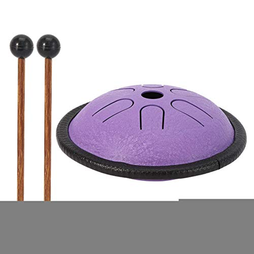 Tambor de lengua de acero, tambor tanque, aleación de titanio de acero de aplicación amplia para principiantes Educación musical Yoga Meditación Sanación mental(purple)