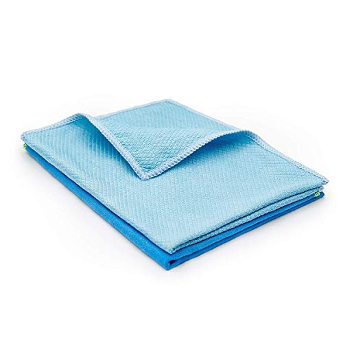 MX6 Microfiber Towel Cleaning Cloth,2 Pcs Kitchen Cleaning Cloth Car Rags for Window Glass Dish Screens Highly Absorbent No Fabric Soft (Blue)