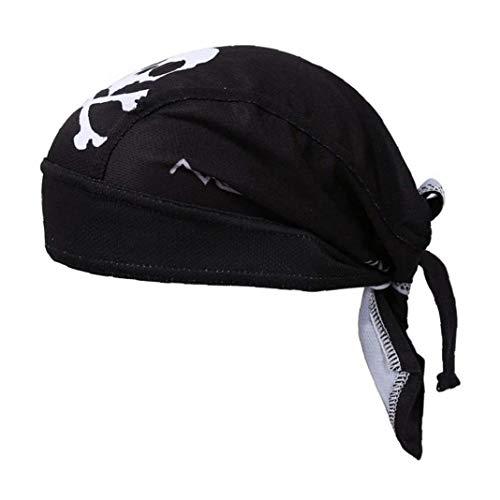 Pirate Ajustables Unisex Sombreros Rápidamente El Sudor Seco Capilaridad Completo Abrigo De La Cabeza del Pelo del Casquillo del Pirata del Pañuelo