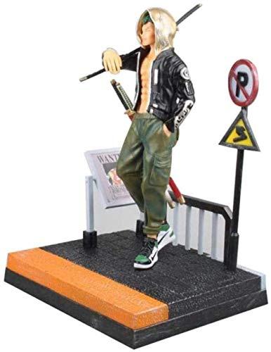 XFHJDM-WJ Regalo cumpleaños Personajes Anime One Piece: Roronoa Zoro Street Fashion Version - Figura PVC 11 Pulgadas KH333T3
